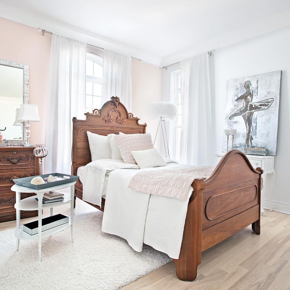 Chambre f minine tout en fra cheur et l g ret chambre - Couleur de chambre tendance ...