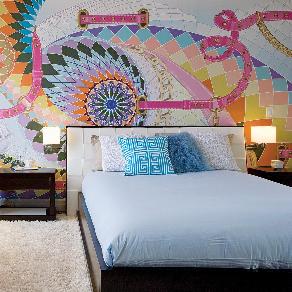 D co chambre psychedelique for Chambre de la haute couture