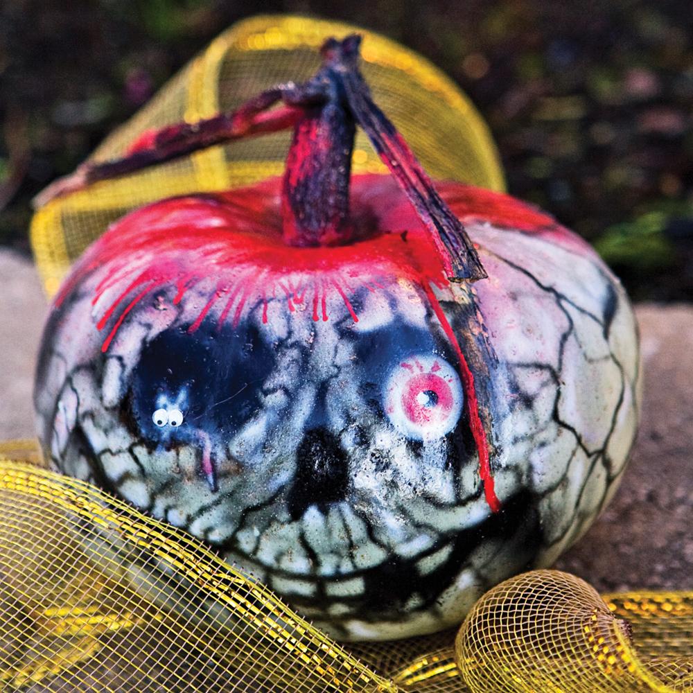 Citrouille squelettique pour halloween f tes - Deco citrouille pour halloween ...