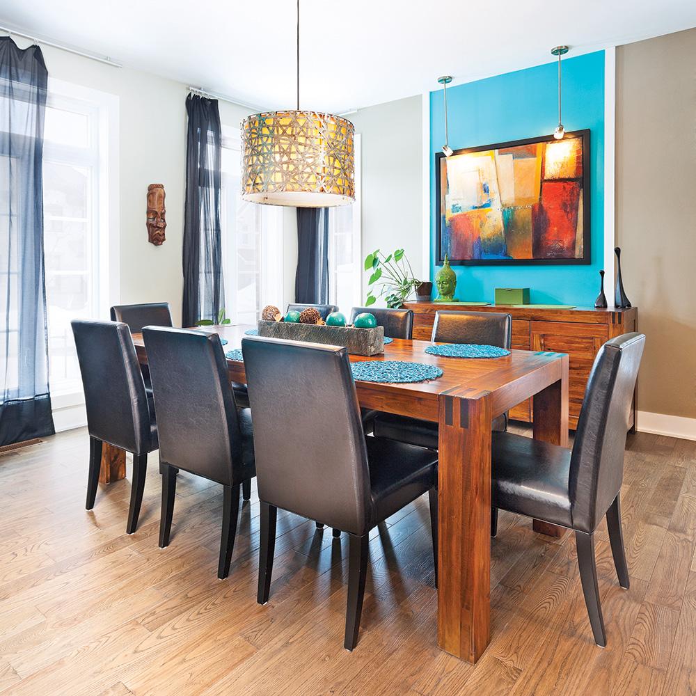 Color zoning» réussi dans la salle à manger   salle à manger ...