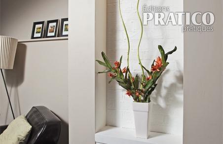 comment faire un faux fini de brique en tapes d coration et r novation pratico pratique. Black Bedroom Furniture Sets. Home Design Ideas