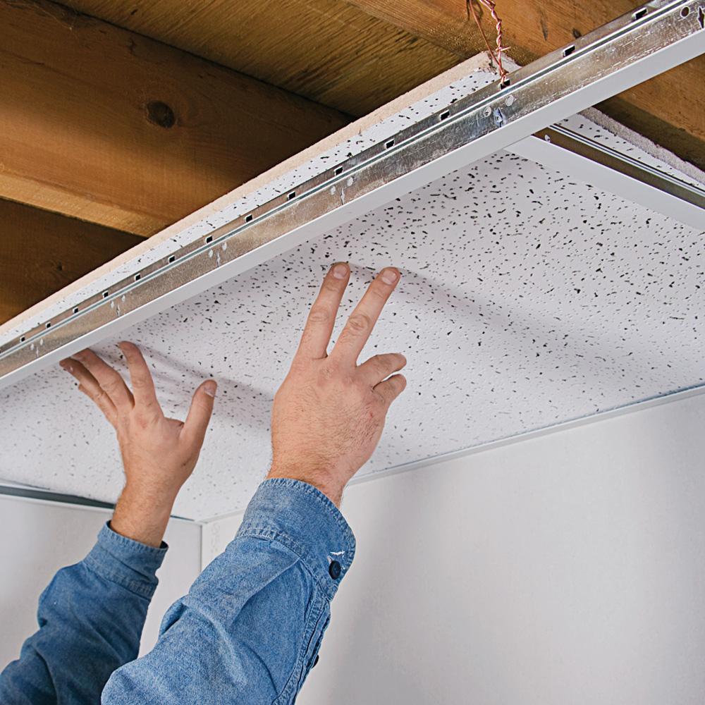 Comment installer un plafond suspendu en tapes d coration et r novation - Comment installer un spot au plafond ...