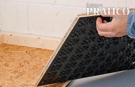Comment installer un sous plancher au sous sol en tapes d coration et r - Plancher beton sous sol ...