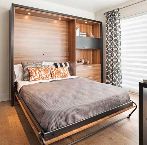 Le lit escamotable pour petits espaces pictures to pin on - Solution lit pour petit espace ...