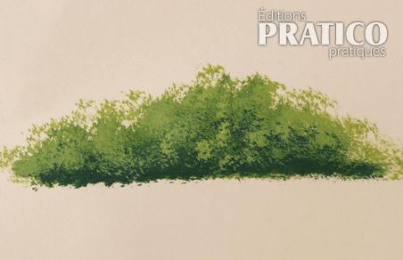 Comment peindre un buisson en peinture sur bois en - Comment peindre des palettes en bois ...