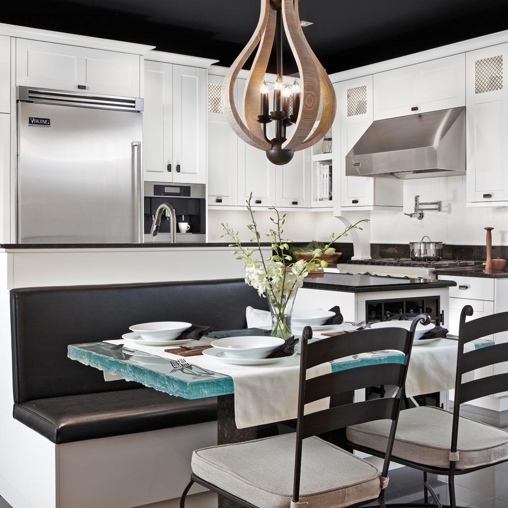 decoration cuisine blanc noir. Black Bedroom Furniture Sets. Home Design Ideas