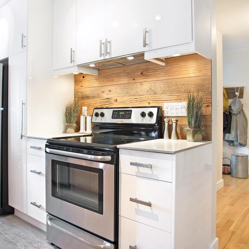 dosseret de bois dans la cuisine cuisine inspirations