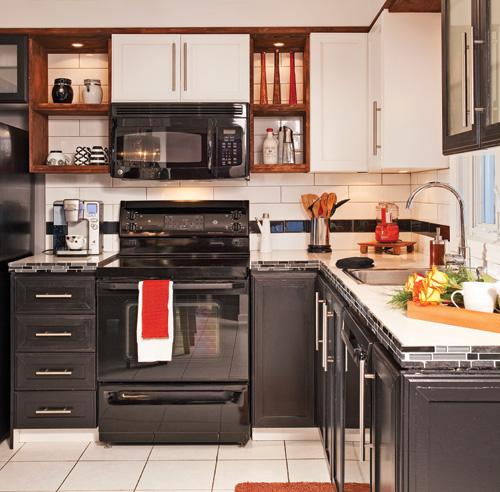 Espace a r cuisine avant apr s d coration et for Armoire de cuisine 2 tons