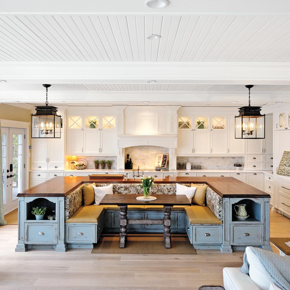 Esprit Cape Cod et convivialité dans la cuisine  Cuisine