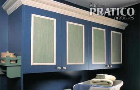 Faire un caisson sur une porte d 39 armoire en tapes for Moulure armoire cuisine
