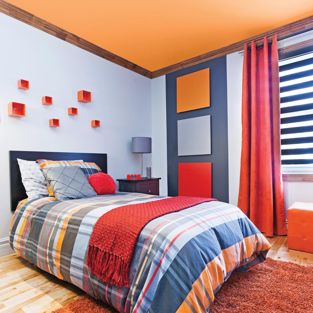 Stunning Chambre En Orange Et Bleu Turquoise Pictures - Yourmentor ...