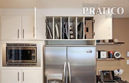 Rangement sur un plateau d 39 argent cuisine inspirations d coration e - Rangement cuisine pratique ...