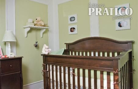 Moulures dans la chambre de b b chambre inspirations d coration et r novation pratico for Les accessoire chambre bebe oran