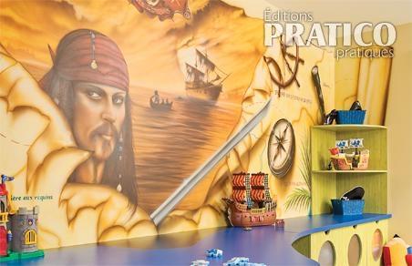 Salle de jeu des pirates des cara bes rangement - Decoration pirate des caraibes ...