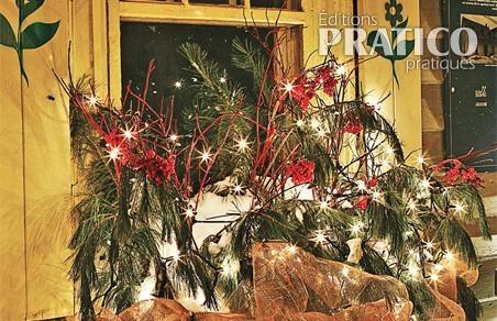 Bo te fleurs lumineuse pour no l inspirations - Decoration de noel exterieur lumineuse ...