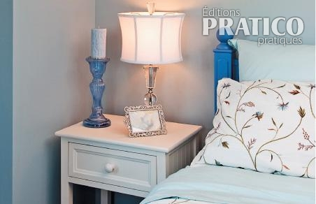 chambre bleue et f minine chambre inspirations. Black Bedroom Furniture Sets. Home Design Ideas
