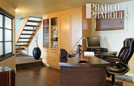 Un bureau au sous sol sous sol inspirations for Decoration fenetre sous sol