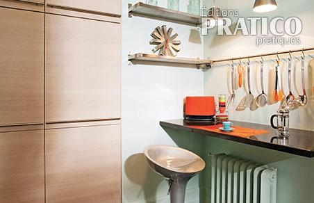 Comptoir lunch joliment r tro cuisine inspirations for Deco comptoir cuisine