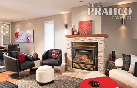 Tons neutres et accents dynamiques au salon salon for Decoration foyer salon