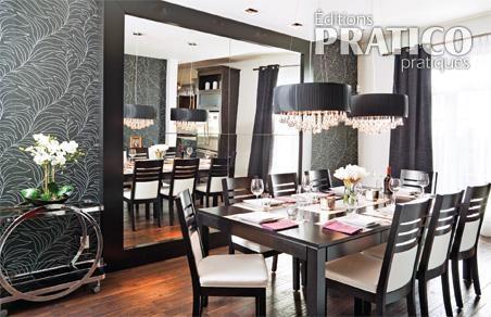 Salle manger tout en volumes et contrastes salle for Papier peint salon salle amanger