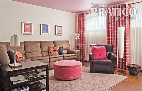 Sous sol rose pour la pause salon inspirations for Decoration fenetre sous sol