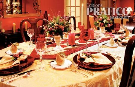 Table de no l traditionnelle et authentique inspirations - Table de noel traditionnelle ...