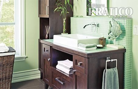 Une salle de bain contemporaine salle de bain - Je decore salle de bain ...