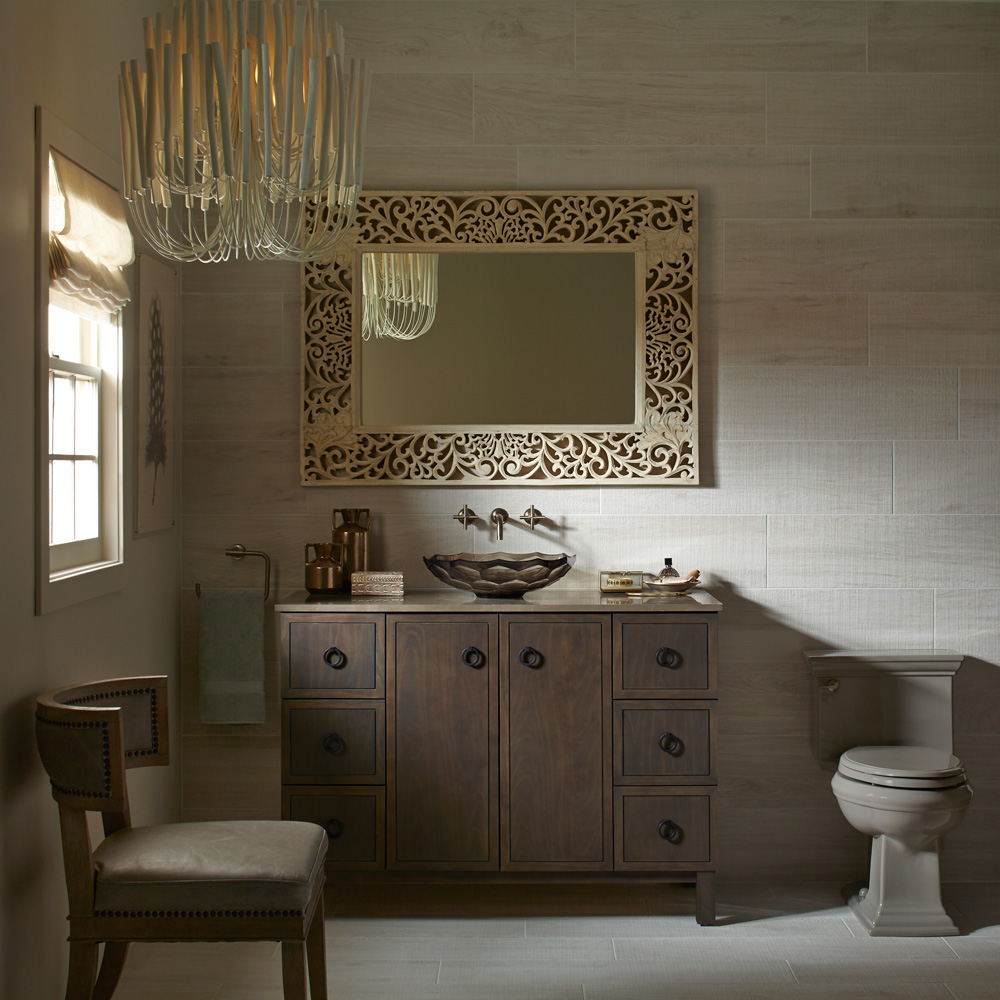 une salle de bain qui a du chic actualit s d coration et r novation pratico pratique. Black Bedroom Furniture Sets. Home Design Ideas