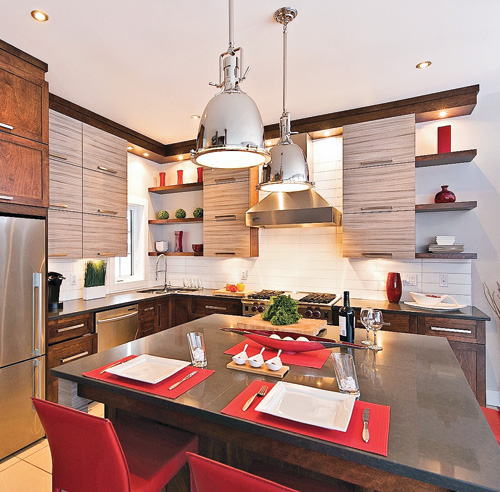 Les 10 mati res tendance pour la cuisine galeries de for Armoire de cuisine deux tons