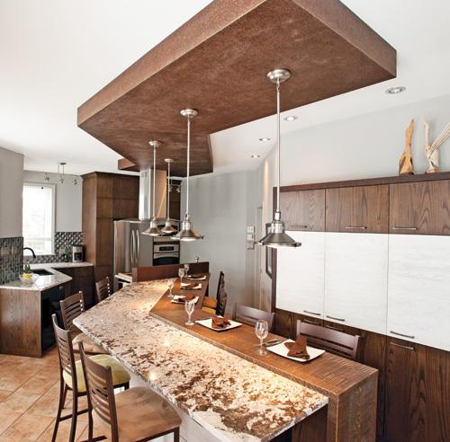 Fabricant de comptoir de cuisine et lot central pictures for Deco comptoir cuisine