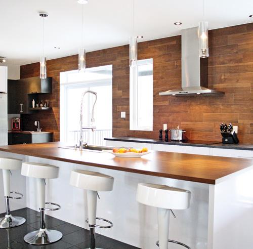 Les 10 mati res tendance pour la cuisine galeries de d cors d coration et r novation - En ingerichte keuken americaine ...