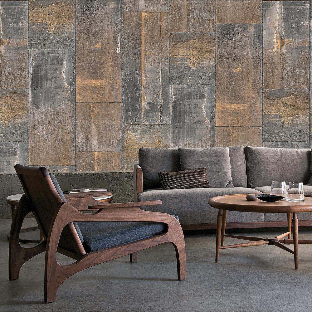 Les papiers peints imitation mat riaux inspirations for Papier peint de renovation