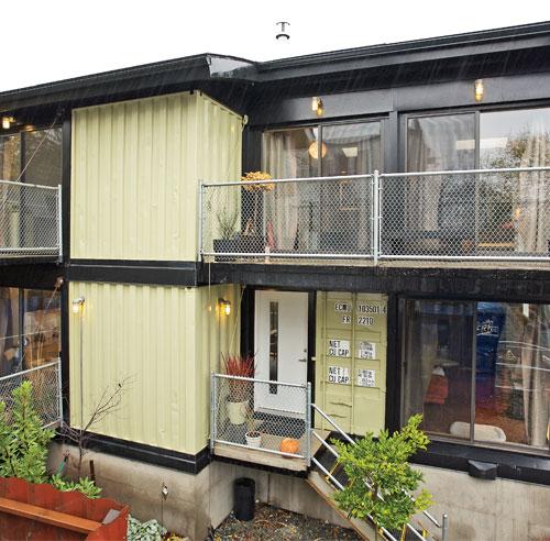Maison avec conteneur construire sa maison container une for Construire sa maison avec des containers