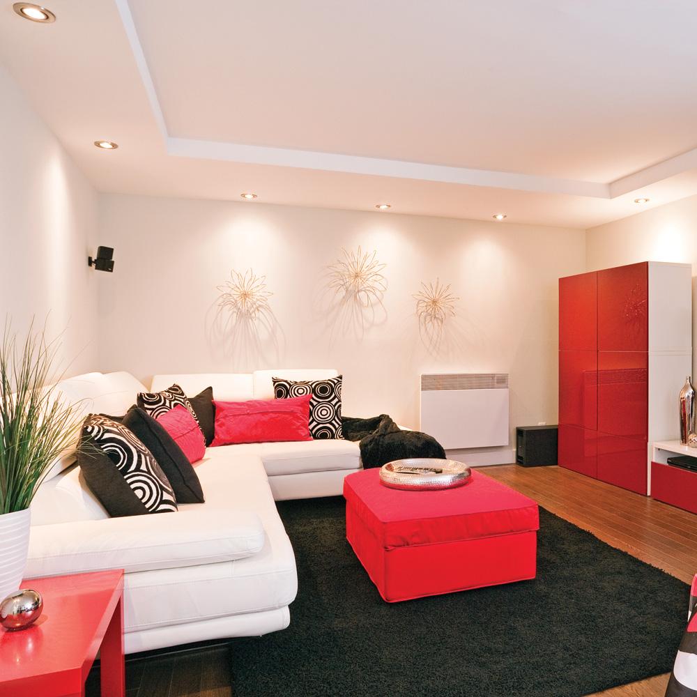 modernit au sous sol salon inspirations d coration. Black Bedroom Furniture Sets. Home Design Ideas