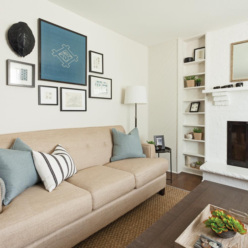 mur de cadres 3 compositions parfaites trucs et. Black Bedroom Furniture Sets. Home Design Ideas