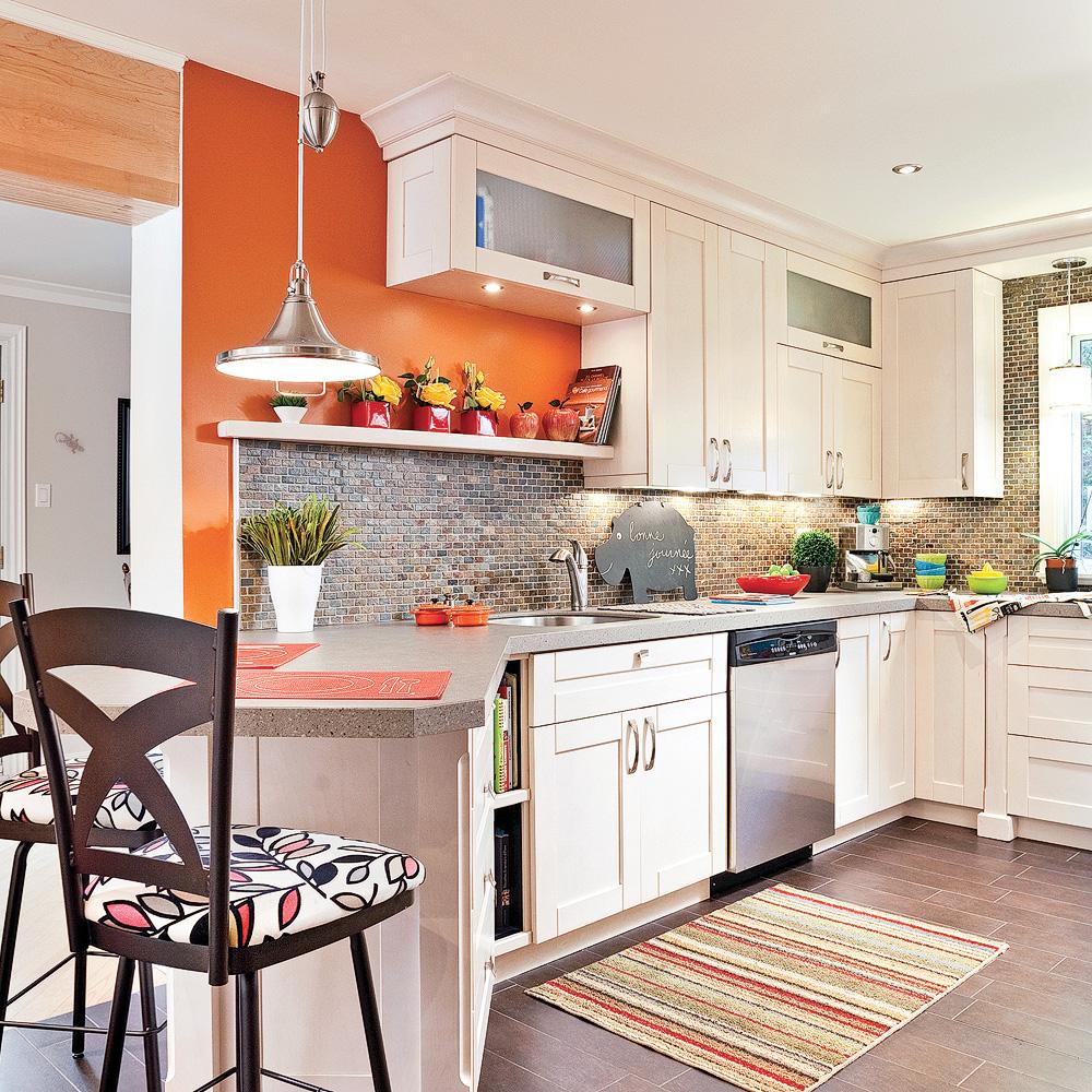 Idee Deco Cuisine Blanc Et Rouge : Nouvelle ergonomie dans la cuisine  Cuisine  Avant après