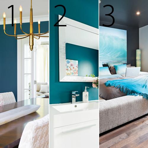Couleur peinture salle de bain tendance couleurs de for Peinture salle de bain couleur bleu