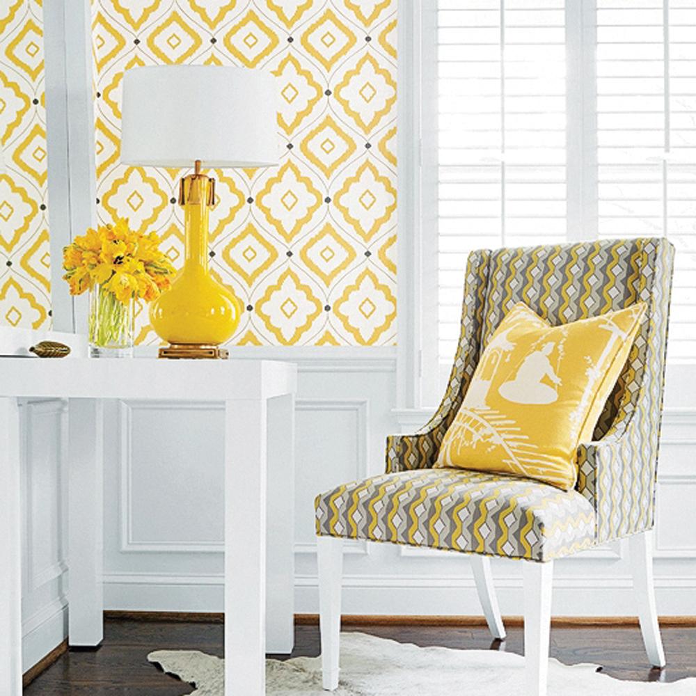 papier peint exotique salon inspirations d coration. Black Bedroom Furniture Sets. Home Design Ideas