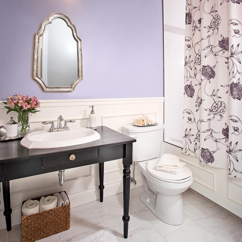 Parfum de lavande dans la salle de bain salle de bain - Decoration maison salle de bain ...