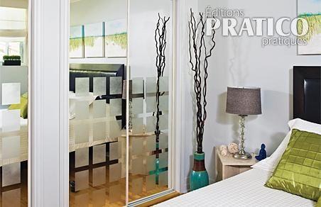 peindre et givrer des portes miroirs en tapes. Black Bedroom Furniture Sets. Home Design Ideas
