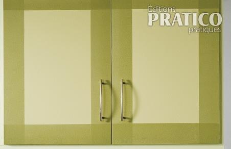 Peindre un cadre sur des armoires de m lamine en tapes d coration et r novation pratico for Peindre sur melamine