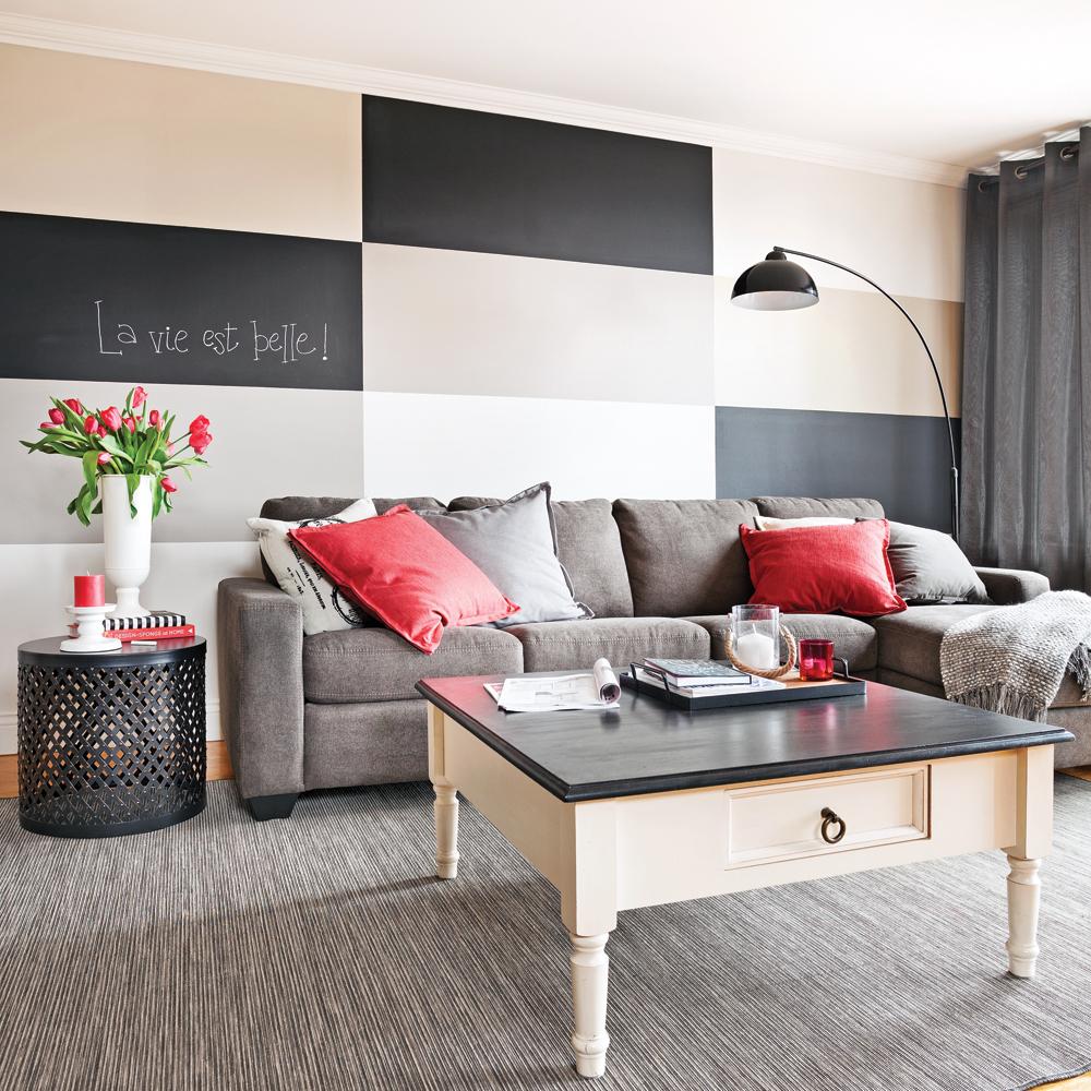 en tapes peindre un damier parfait au mur en tapes. Black Bedroom Furniture Sets. Home Design Ideas