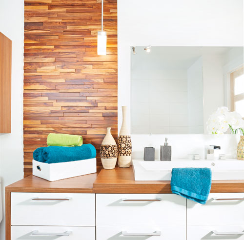 Lino salle de bain mur d cembre fin des salles de bain et pose du lino at notre maison for Lino salle de bain castorama