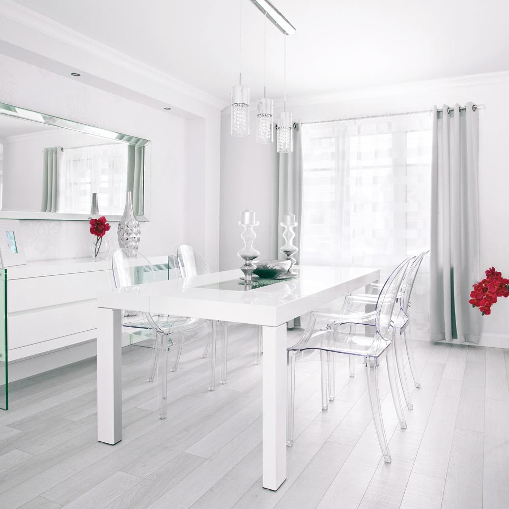 Salle manger pur e et contemporaine tout en - Deco salle a manger contemporaine ...