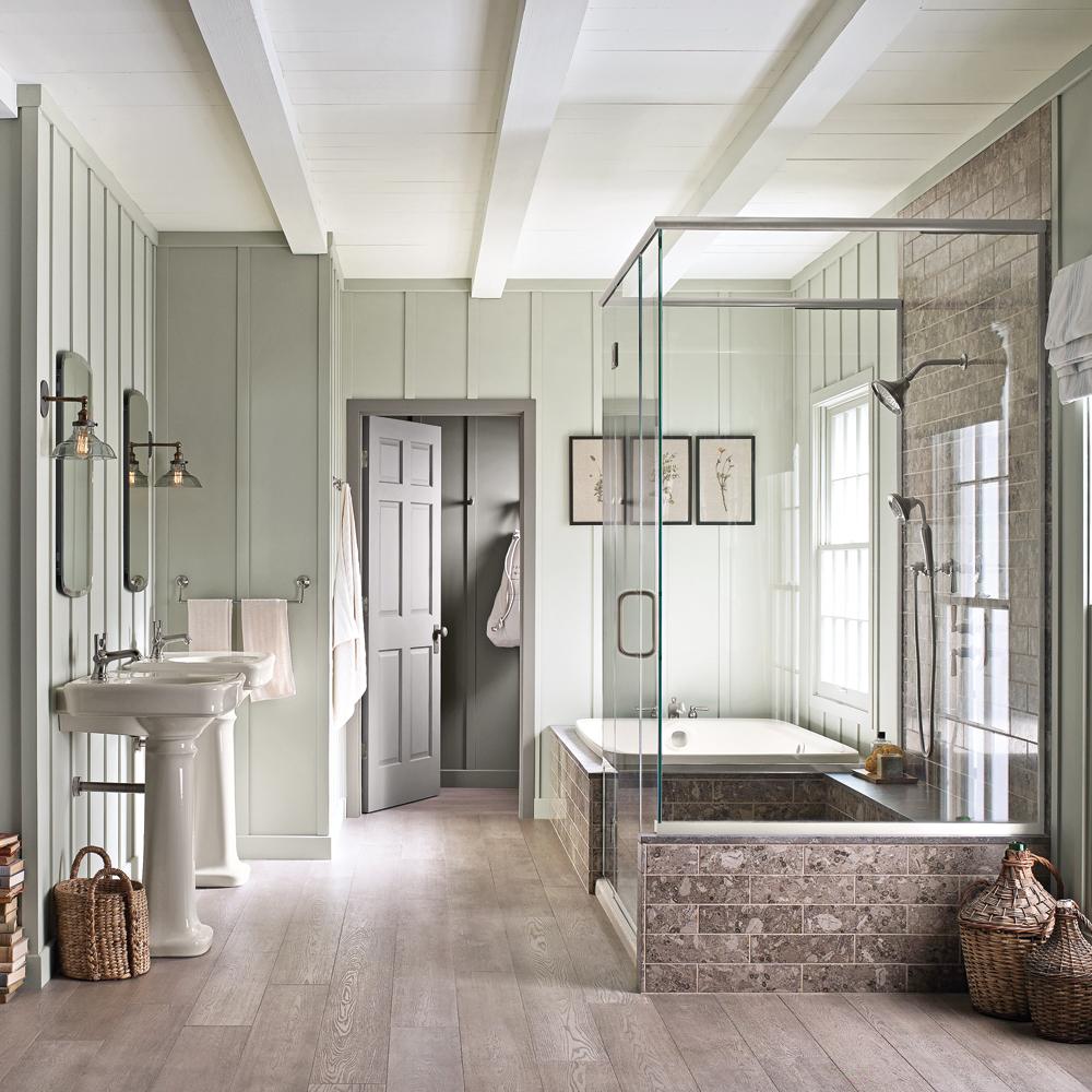 Idee salle de bain renovation avec des for Idee renovation salle de bain
