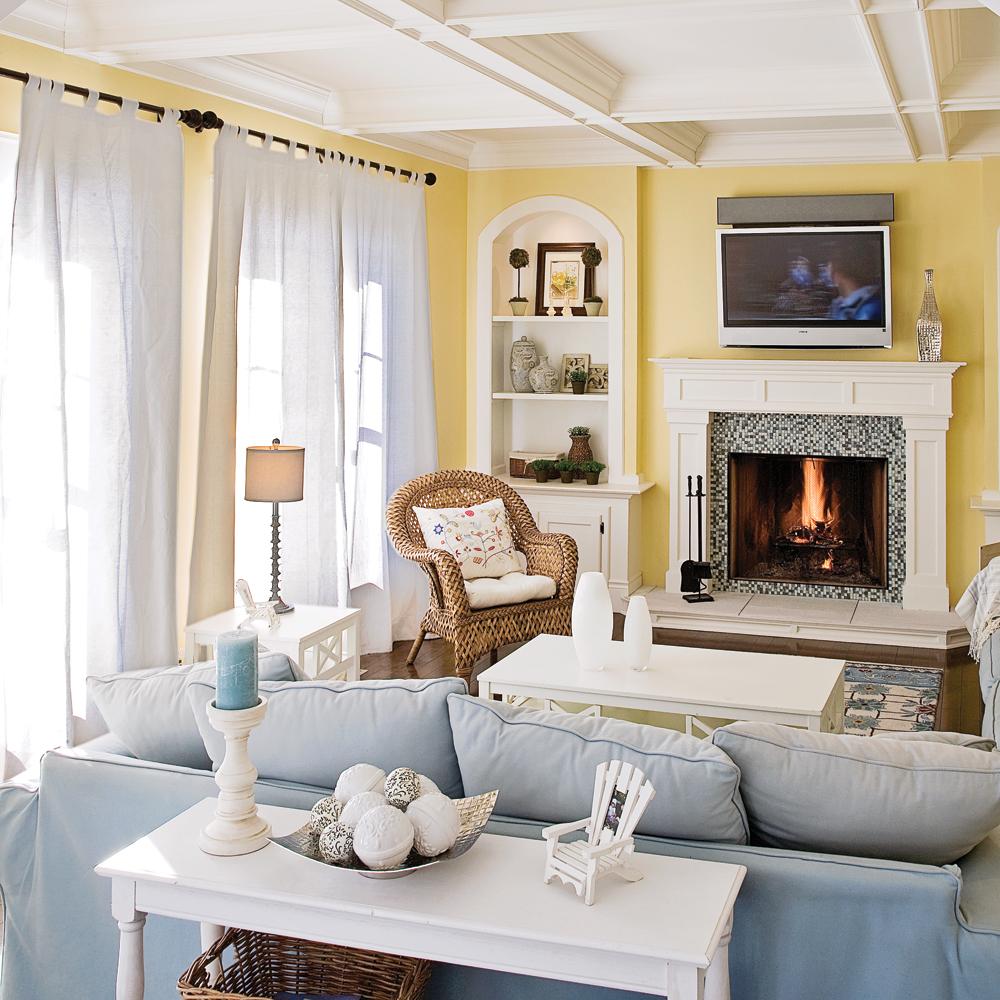 Salon champêtre pastel   chambre   inspirations   décoration et ...