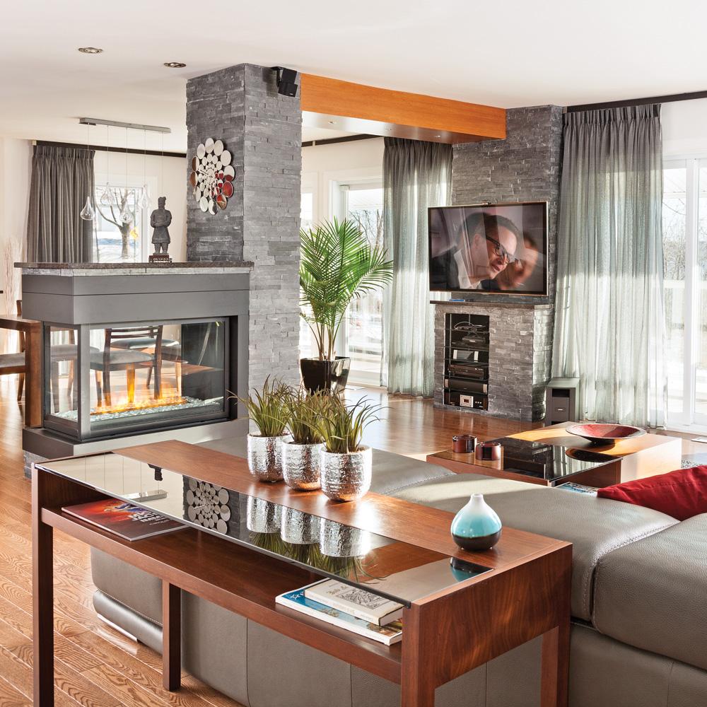 Deco salon moderne chaleureux pr l vement d for Idee deco salon chaleureux