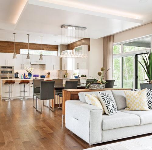 D coration cuisine et salon aire ouverte for Decoration salon et cuisine