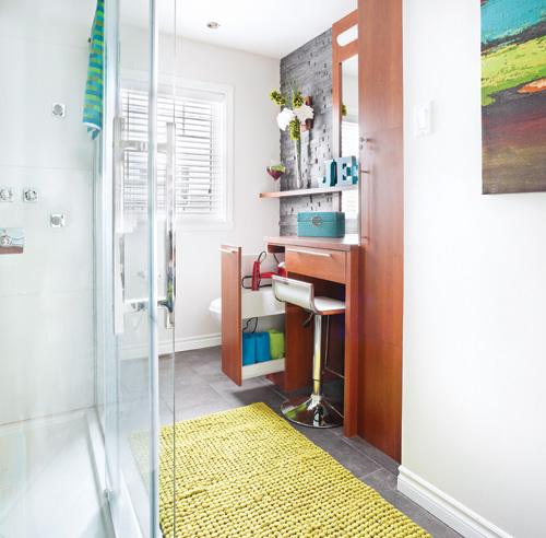 Rangement pour la salle de bain salle de bain avant - Rangement serviette salle de bain ...