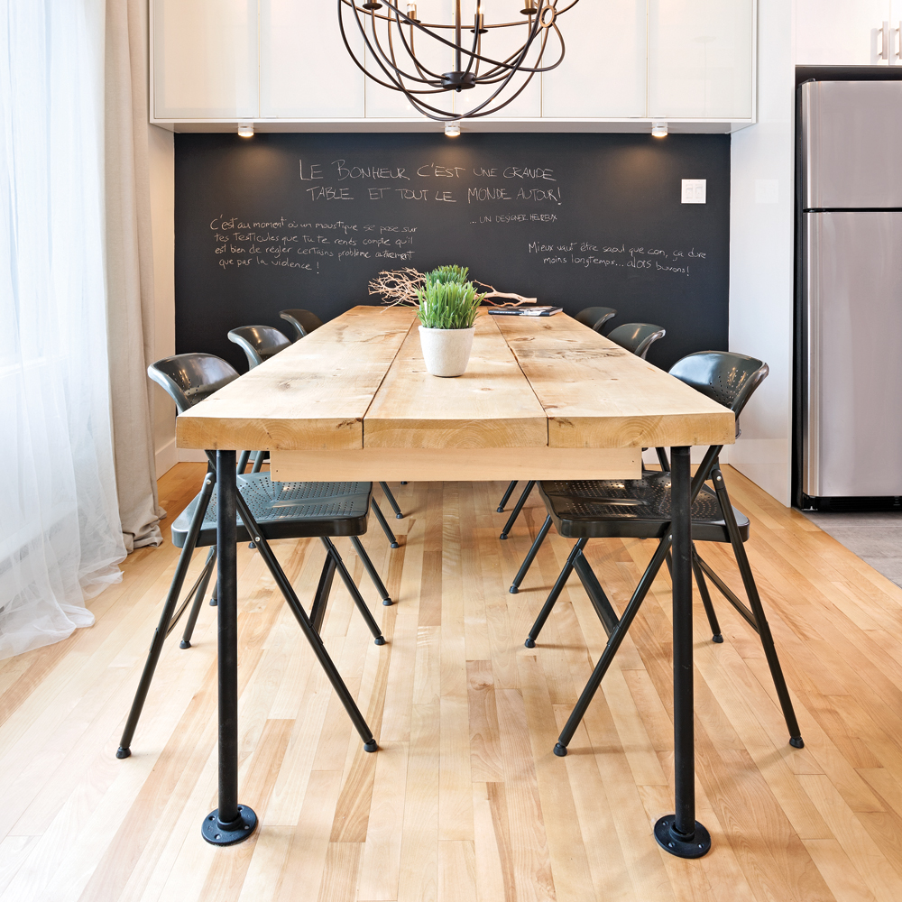 En étapes: une table de style industriel   en étapes   décoration ...